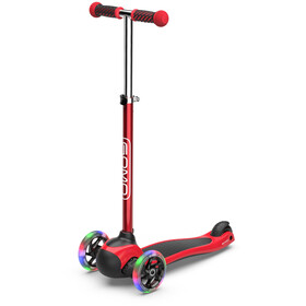 GOMO 3-Wheel Scooter Kinder rot/schwarz